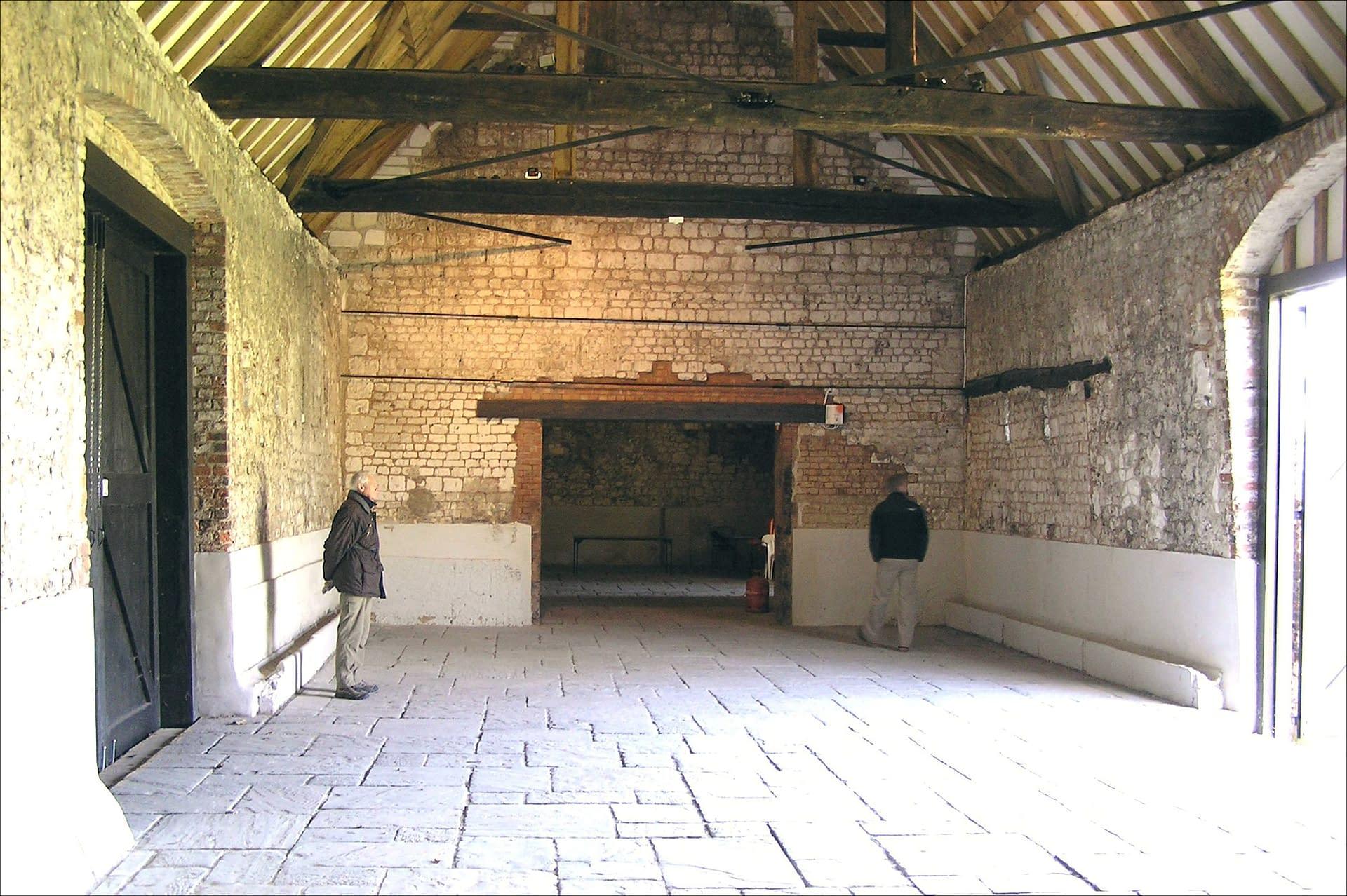 An un-decorated Monks Barn wedding venue UK