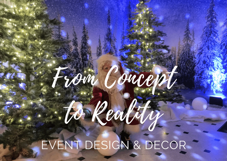 Blog post event design and decor from concept to reality