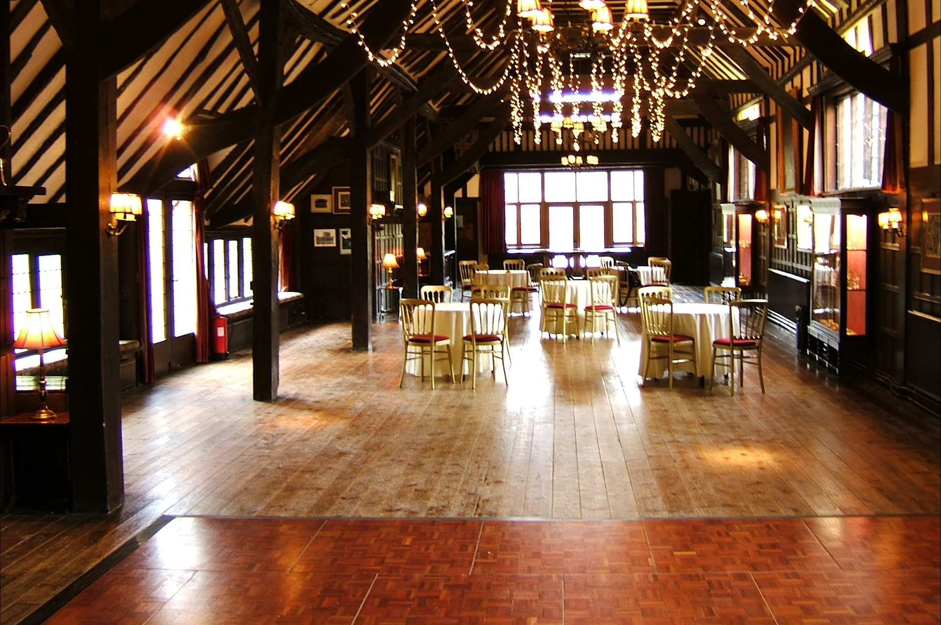 An un-decorated Ramster wedding venue awaiting venue styling