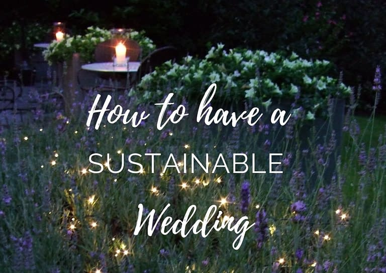 how to have a sustainable wedding blog graphic for Stressfree the Venue Transformers event design and decor est 1995